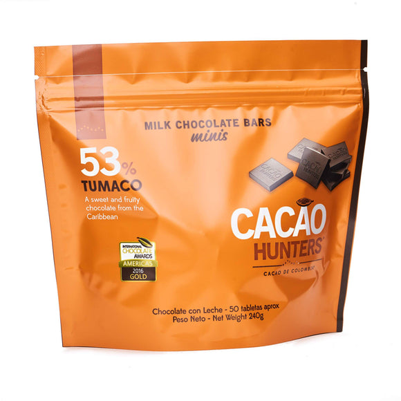 Cacao Hunters mini chocolate oscuro