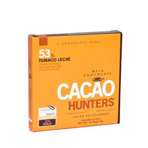Barra de Chocolate Tumaco Leche 53% X2