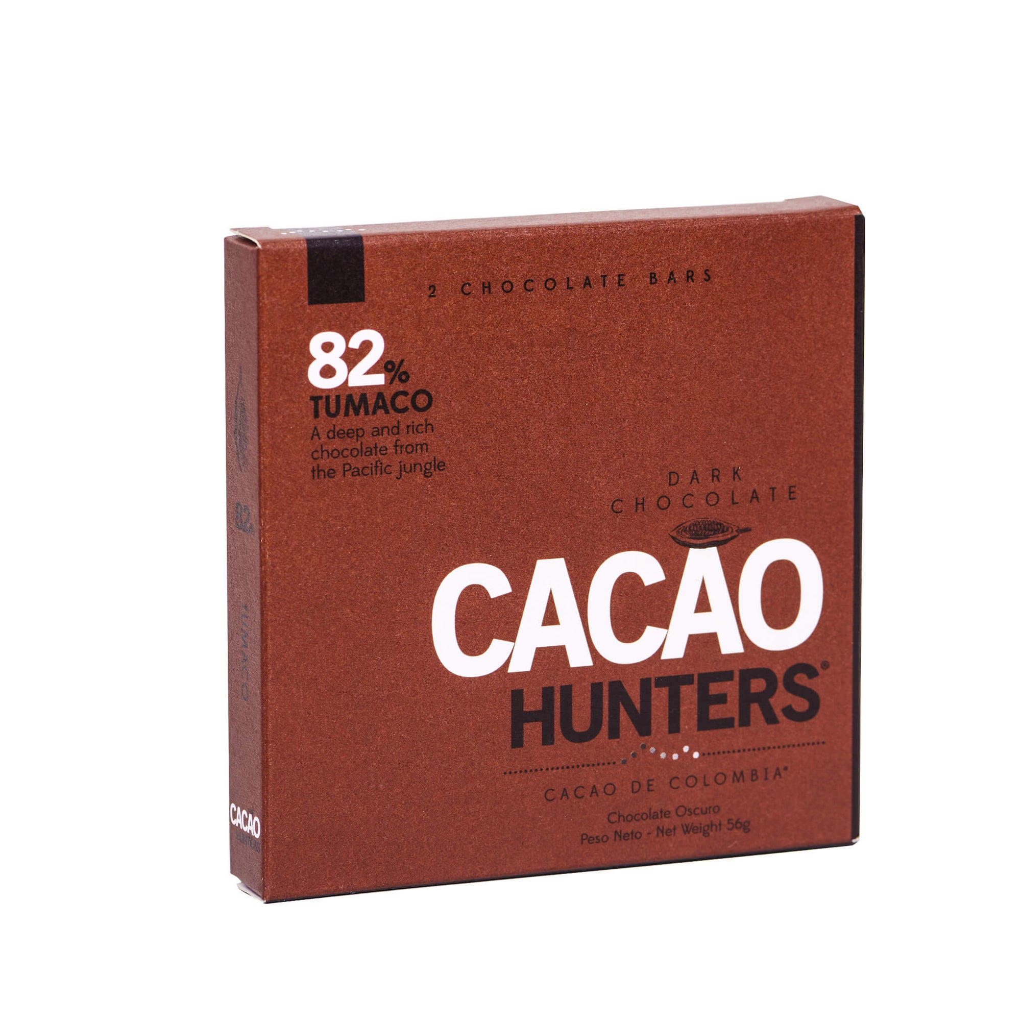 Barra de Chocolate Negro Tumaco 82% X2