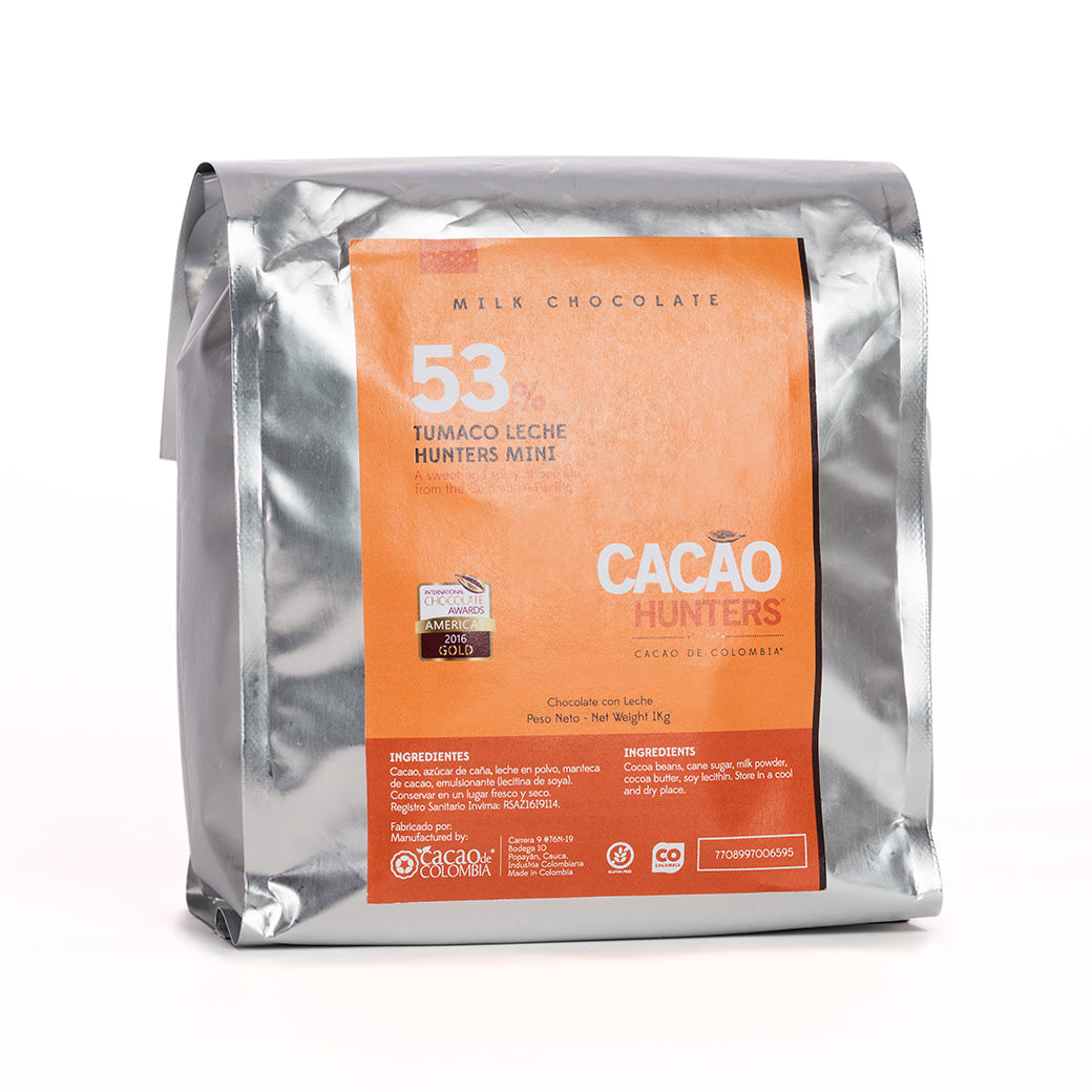 Barra de Chocolate Tumaco Leche 53%