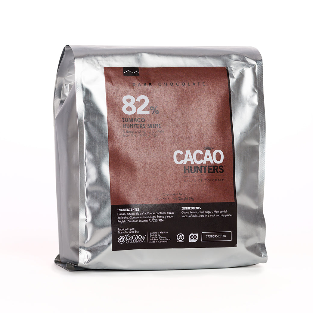 Barra de Chocolate Negro Tumaco 82%