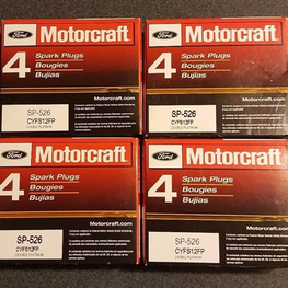 Set of 16: Genuine Ford Motorcraft Double Platinum Spark Plugs SP526 CYFS12FP