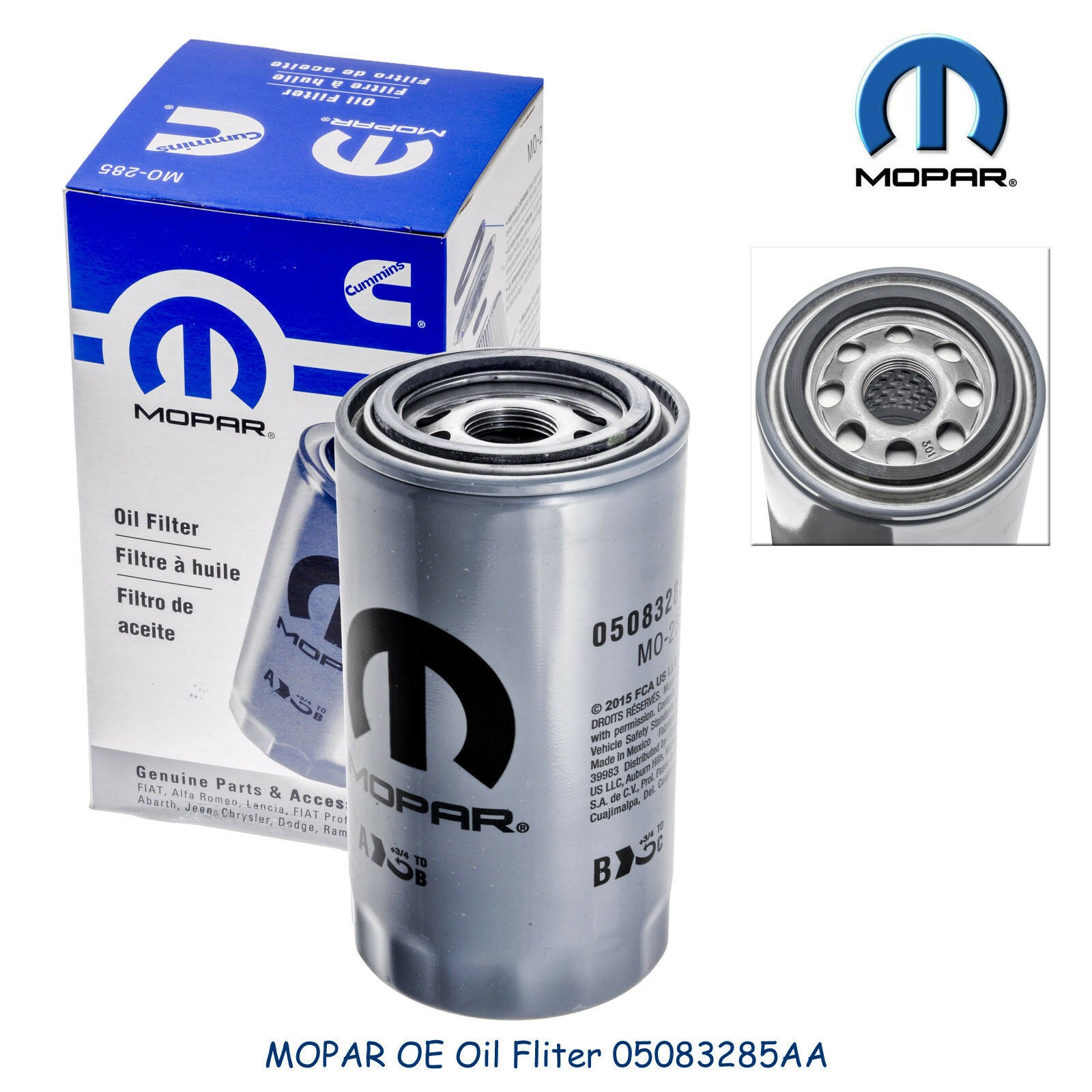 Diesel Oil Fuel Filter Kit Mopar Genuine 2013-2017 RAM 2500 3500 4500 5500 6.7L
