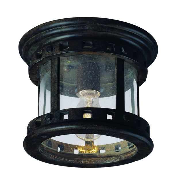 "Almanor 9"" Wide Outdoor Ceiling Light - Sienna"