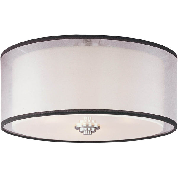 "Cohasset 15"" Wide Semi-Flush Mount - Satin Nickel"