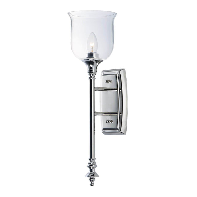 "Early 22"" Tall Wall Sconce - Polished Nickel"