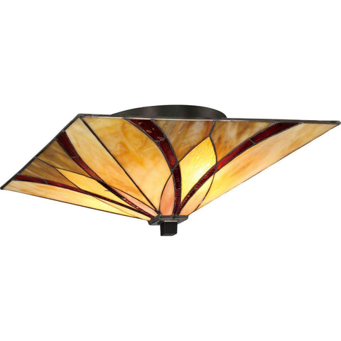 "Honey Run 15"" Wide Flush Mount"