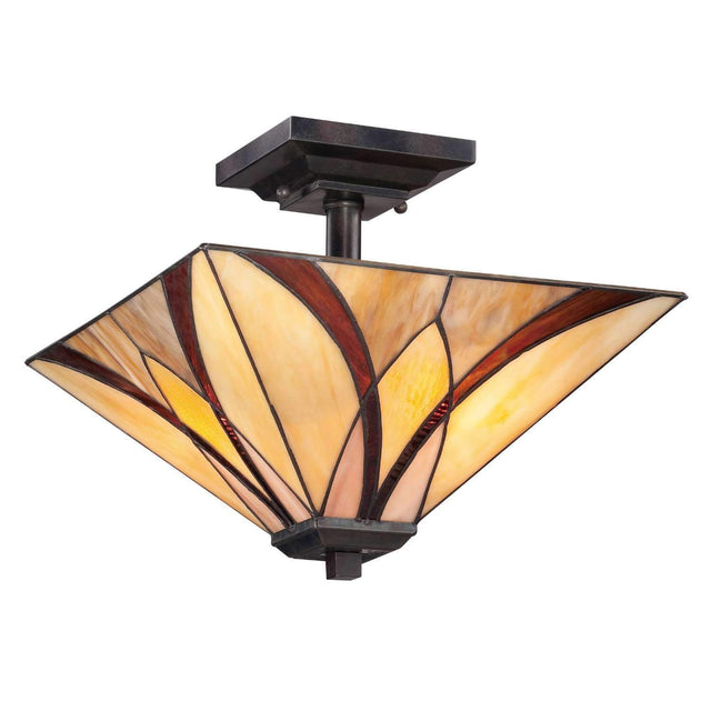 "Honey Run 14"" Semi-Flush Mount"