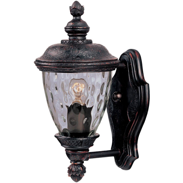 "Woodson Bridge 12.5"" Tall Wall Lantern - Oriental Bronze"