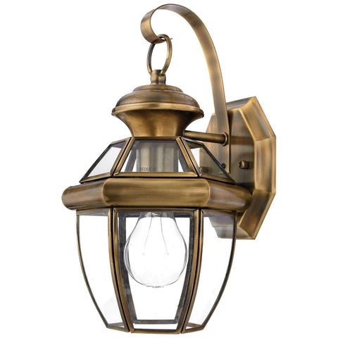 "Yahi 11.5"" Tall Outdoor Wall Lantern with Clear Beveled Glass"