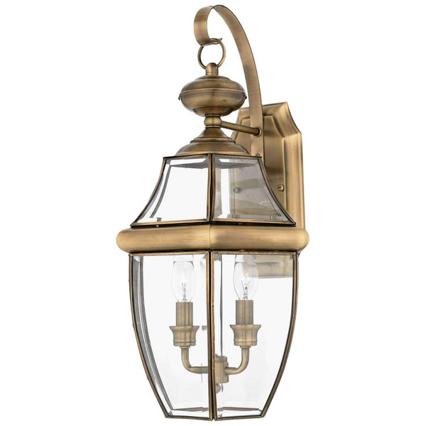"Yahi 20"" Tall Outdoor Wall Lantern with Clear Beveled Glass"