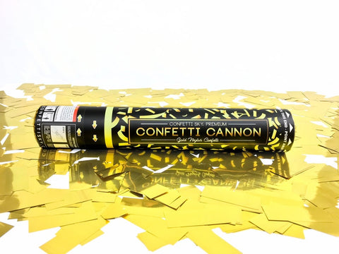 Image of 12 inch Gold Mylar Pro Series Confetti Cannon
