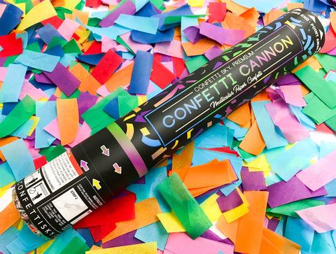 12 inch Multicolor Confetti Cannon - Pro Series