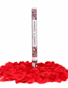 24 inch Red Rose Petal Wedding Confetti Cannon