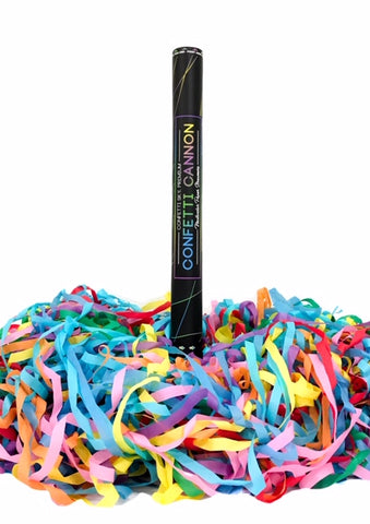 24 inch Multicolor Streamer Confetti Cannon