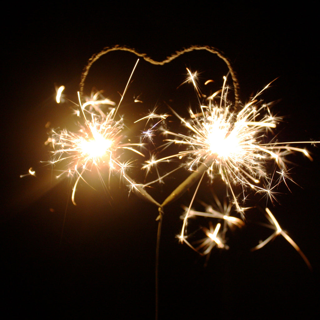 Small Heart Sparklers - 6 pcs