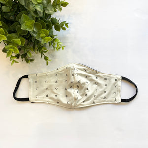 Typewriter Bamboo Face Mask