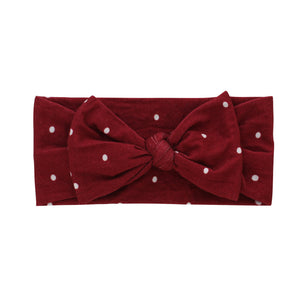 Winter Polkadot Headband