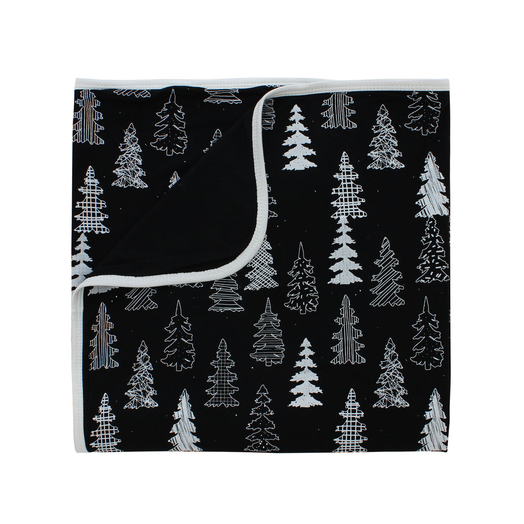 Winter Pines Bamboo Everywhere Blanket