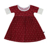 Burgundy Polkadot Bamboo Twirl Dress