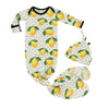 Lemons Bamboo Knotted Newborn Gown + Hat Set