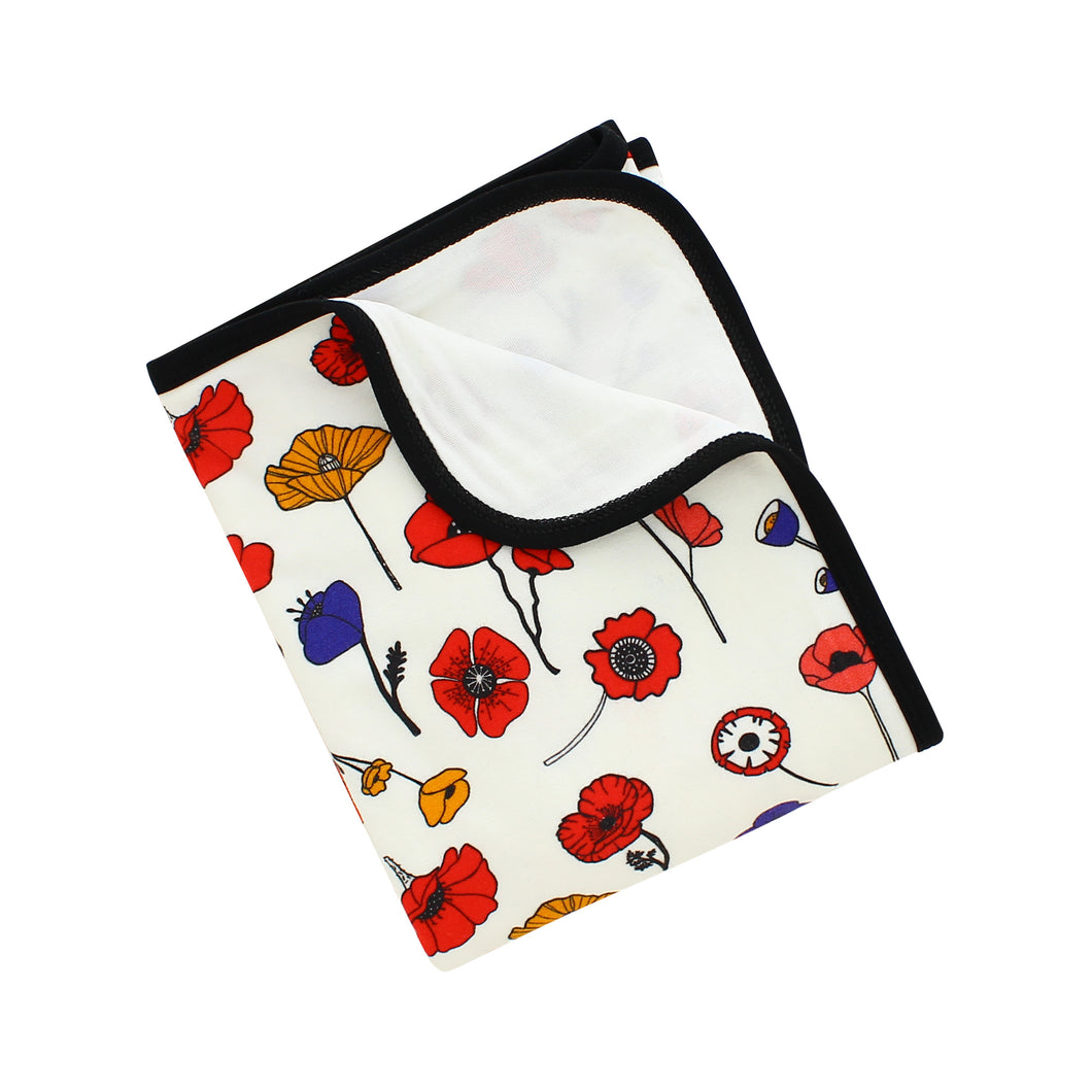 Winter Poppies Bamboo Everywhere Blanket