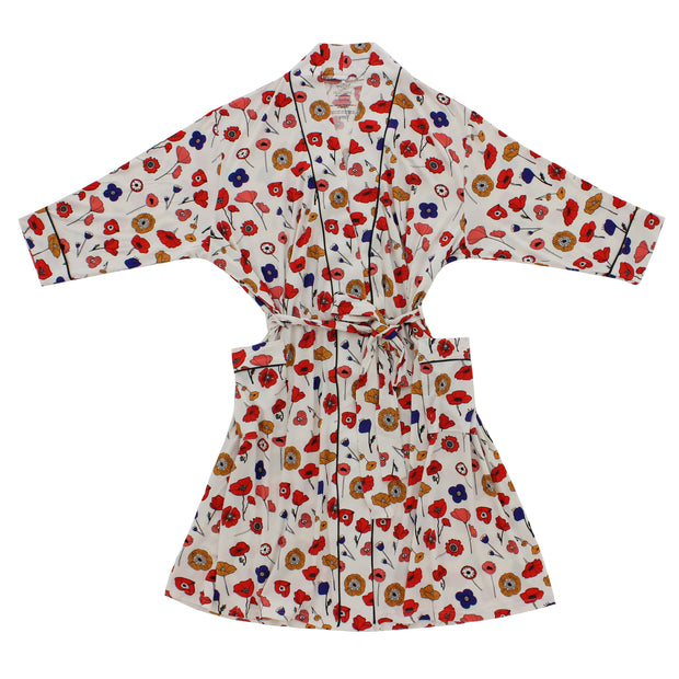 Mod Poppies Bamboo Adult Robe 1