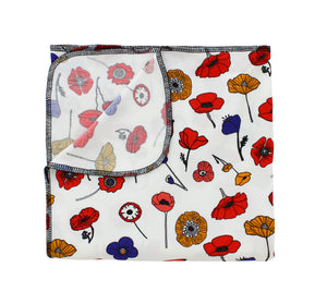 Winter Poppies Bamboo Luxe Swaddle Blanket