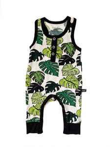Palm Leaves Bamboo Tank Romper
