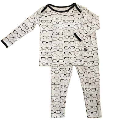 Glasses Bamboo Two-Piece Pajama Set