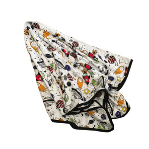 Space Doodle Bamboo Everywhere Blanket