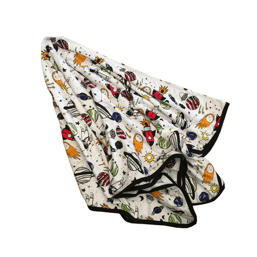 Space Doodle Everywhere Blanket