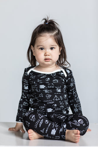 Chalk Math 2 Piece Pajamas
