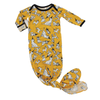 Party Dogs Bamboo Knotted Newborn Gown + Hat Set