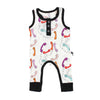 Retro Phones Bamboo Tank Romper