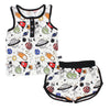 Space Doodle Bamboo Tank and Shorts Set
