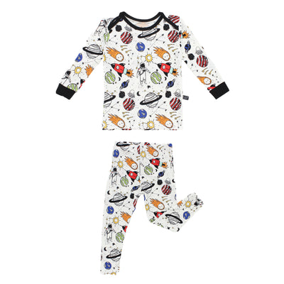 Space Doodle Bamboo Two-Piece Pajamas