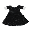 Black Polkadot Bamboo Twirl Dress