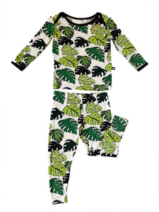 Palm Leaves 2 Piece Pajamas