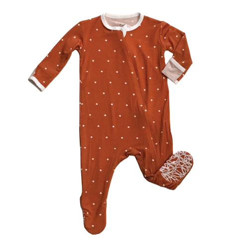 Vintage Polkadot Footed Sleeper