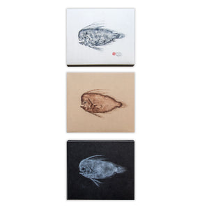 Deep Sea Mane Fish Triptych