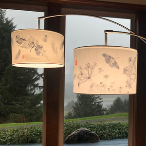 By Land By Sea By Air themed Triple Lamp Shade