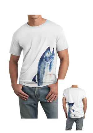 INDIGO SALMON TEE ( 2-Sided )