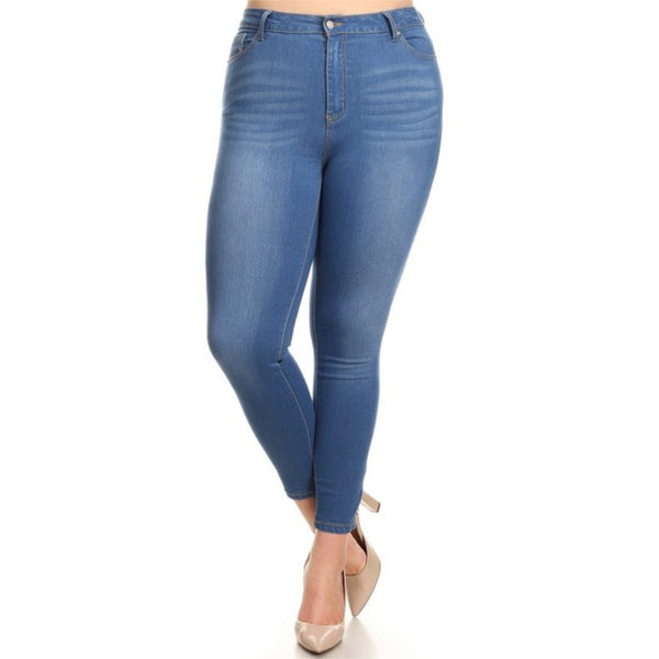 Light Blue Jegging- Plus Size