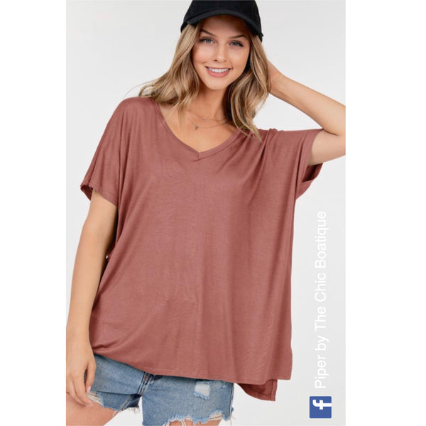 Basic V - Oversized Top