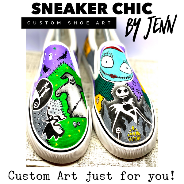 Custom Hand Painted - Slip on (Vans style) Shoe