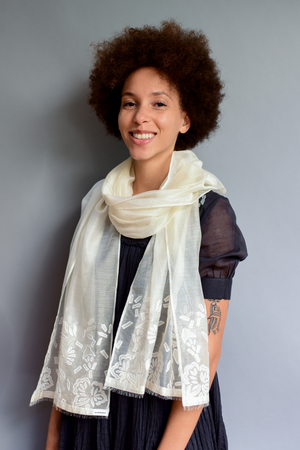 The Sheer Blossom - Clothcrafte, scarves & stoles