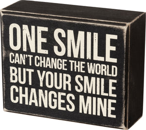 Change The World Box Sign