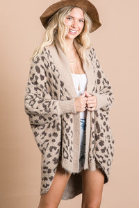 Taupe Animal Cardigan