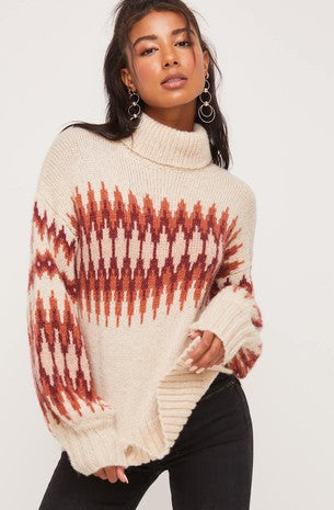Mauve Combo Sweater